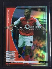 2004-05 Panini WCCF WST Thierry Henry rare Arsenal refractor card