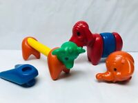 Tupperware Toys Zoo It Yourself Animals Playset Vintage Preschool Toys Colorful