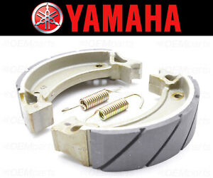 Set of (2) Yamaha Water Grooved REAR Brake Shoes and Springs #4BE-W253E-00-00