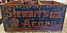 Antique 1890s Stewart's Acorn Biscuit Box Bakery General Store Philadelphia, Pa.