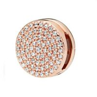 REFLEXIONS Dazzling Elegance Clip CHARM 925 Sterling Silver Rose Gold NEW