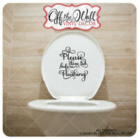 "Bathroom Toilet ""Please close lid before Flushing"" Toilet Lid Decal Sticker #BL2"