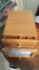 Vintage Wooden Photo Album Box Picture Frames Wood  Memory Keepsake drawer