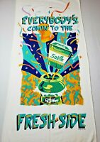 Vintage SALEM Tobacco Cigarettes Beach Towel Fresh Side 1990's SAAB 59 x 27 Inch