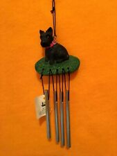 Dog Wind Chime Scottie Terrier By Nce 1995 Vintage W/Tag 7 inch w/four chimes