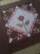 Patchwork Lap Quilt, Hand made with Applique centre