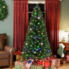 Best Choice Products 7ft Pre-Lit Fiber Optic Artificial Christmas Pine Tree w/ 2