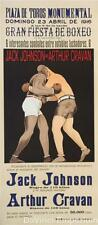 Jack Johnson vs Arthur Cravan Boxing Poster Fine Art Lithograph S2