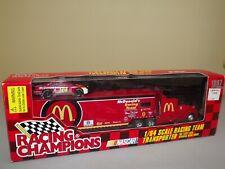 1997 RC Nascar Bill Elliott McDonalds Racing TeamTransporter & Car 1:64 NRFB