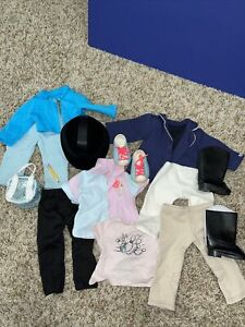 """Lot of Clothes and Accessories Fit 18"""" Dolls OG, American Girl Bowling Riding"""