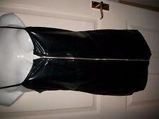 PVC Style Wetlook Style Zip Black, Size 8-10