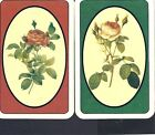 SWAP PLAYING CARDS - 1 PAIR OF VINTAGE CARDS # 12 - FLOWERS,PATTERNS,ETC