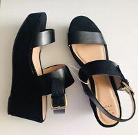 A New Day Women's Zenia Two Piece Flatform Sandals - Black Size 9 ✨✨✨NWT!