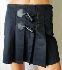 ***GONNA SKIRT TG.M in COTONE con pieghe tonalità Blu Scuro Cod.AS
