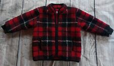 BABY GAP  PLAID JACKET COAT Boy-Warm! RED