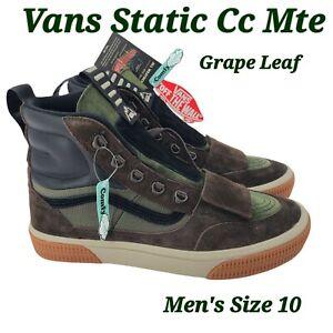 Vans Static CC MTE Grape Leaf/Demitasse Shoes Men's Size 10 VN0A4P3LTWS NEW
