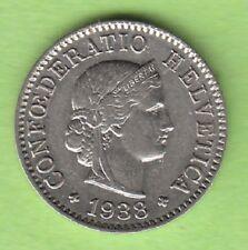 Schweiz 5 Rappen 1938 toll erhalten besser als vz nswleipzig