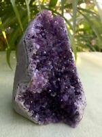 Amethyst Cluster Geode Crystal Quartz Cut Base Purple Amethyst Specimen Brazil h