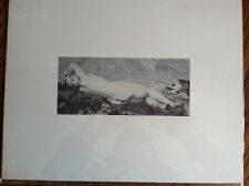 Nude Victorian Lady Black & White Print / Engraving 1800's
