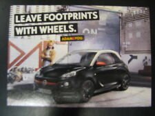 Opel Adam, Leave footprints with wheels Ansichtkaart
