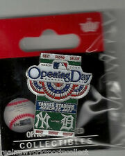 2011 NEW YORK YANKEES VS TIGERS OPENING DAY PIN #2 3/31