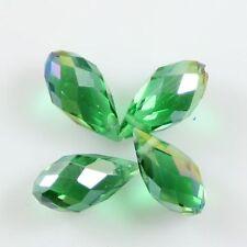 Pendants 10 Pcs Swaro-element 6*12mm Teardrop Crystal beads D grass green AB