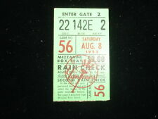 August 8, 1953 Yankees Game Ticket Stub