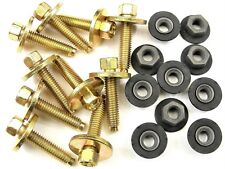 Chevy Body Bolts & Barbed Nuts- M6-1.0mm x 28mm Long- 8mm Hex- Qty.10 ea.- #381