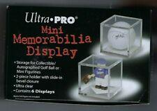 New listing 6 Ultra Pro Acrylic Golf Ball or Mini Memorabilia Display Case Cube Holder
