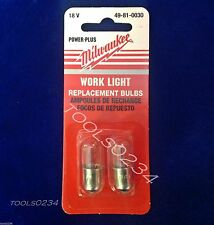 Milwaukee 49-81-0030 Replacement Work Light 18 Volts Bulb 2 Pack Free Shipping