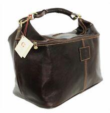 Große Leder Reisetasche Damen Herren XL Weekender Handgepäcktasche Ledertasche