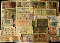 Lot 100 Pcs Vintage Different World Banknotes Set Bundle Europe Old Paper Money