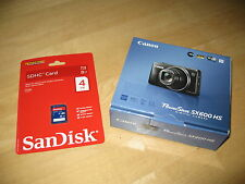 Brand New RED Canon PowerShot SX600 HS 16MP Digital Camera +4GB SD Card MSRP$299