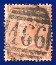 1873 SG94 4d Vermilion Plate 14 J61 EK Good Used Liverpool 466 CV-FU £110 agsy