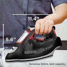 Advanced Steam Iron, Durable, Stainless Steel, High Steam Rate, Auto Shutoff