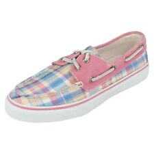 Ladies Sperry pink multi canvas shoe Bahama Madras size UK 4.5