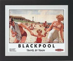 Blackpool British Rail Railway Vintage Old Poster Picture | Blackpool | TP233