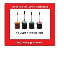 A set of refill kits for Canon PG-645, PG645 & CL-646, CL646 ink cartridges