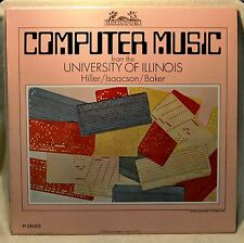 Computer Music from the University of Illinois LP NM Electronic Hiller Isaacson