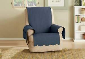 Sure Fit Recliner Chair Slipcover Navy Color - Furniture/Pet Cover