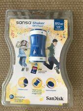 New SanDisk Sansa Shaker Mp3 Player 512Mb 125 Songs Sdmx9N-512B Blue