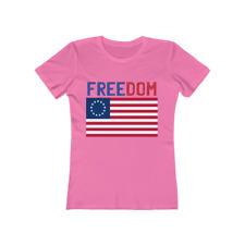 Betsy Ross Era American Flag Revolution Novelty Women's T-Shirt Tee