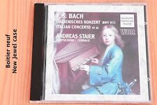 Bach JS - Concerto Italien Partita IV Fugue - Staier - Boitier neuf - CD DHM