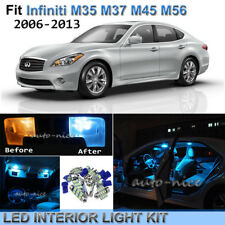 11pc Ice Blue Interior LED Lights Package Kit For 06-13 Infiniti M35 M37 M45 M56