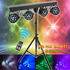 More details for dj disco par light set rgbw lights effect lighting stage led spotlight party kit