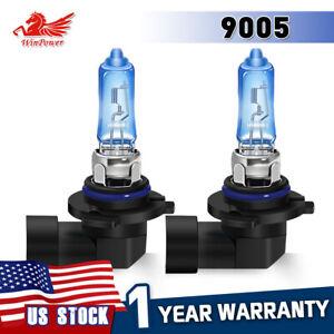 12V 9005 HB3 Halogen Headlight Bulbs Kits 5500K Super Bright White Light 2PCS US
