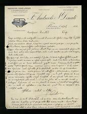 LETTERE COMMERCIALI F. ANDREOLI & N.DONATI FIRENZE 1914