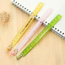 2pcs 15cm Cute Candy Color Plastic Ruler Student School Stationery Gift Random