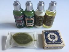 NEW 6 pc.L'Occitane Travel Set- Shampoo, Conditioner, Lotion, Gel, 2 Soaps