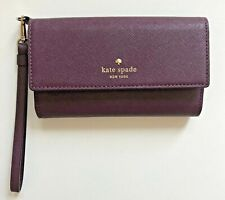 Kate Spade Burgundy iPhone Wallet Wristlet